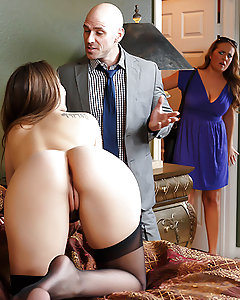 Johnny Sins has a pretty good thing going fucking around on his wife Elexis Monroe with Dani Daniels, but when Elexis catches that bubble butt slut lying naked in her marriage bed, the jig is most definitely up! At first, Dani's afraid Elexis is going to kick her ass, but lucky for her, Elexis is just as big a slut as she is! Elexis finger-fucks Dani's perfect little pussy until she's dripping wet, and then they lock legs for some super sexy scissoring. Check it out as these two bisexual beauties feast on each other's tight twats for your viewing pleasure, all in glorious HD!