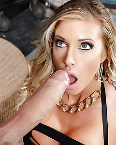Samantha Saint has long been one of ZZ Metro's finest vice detectives, but when officer Danny D hears that she's been turning tricks while in uniform, he's determined to get to the bottom of it. He tracks that busty blonde beauty down to a warehouse and finds officer Saint wearing next to nothing, willing to do whatever it takes to protect her law enforcement career. She takes Danny's massive cock as deep as she can manage between her pretty plump lips and then rides that dick until she cums hard and gets a huge facial reward!