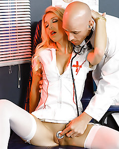 Hot nurse Laura Bentley getting penetrated by a nasty doctor.