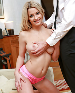 Blonde and busty Sienna Day gets hot and wild with a camera
