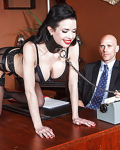 Veronica Avluv had no idea what she was getting into when she applied for the job as secretary to Mr. Sins. To pass the time during the boring stretches between typing projects, she started masturbating at her desk. Mr. Sins walked in on her one time with one hand deep in her pussy, and the other spanking herself with a hairbrush. Days passed and their sex got kinkier and kinkier, until one day he fingerfucked her until she squirted all over his desk. Then he pounded the sweet fuck out of her Milf pussy, bent over, on top, pile-driver, until Veronica's cunt was drenched through with pussy juice from cumming again and again.