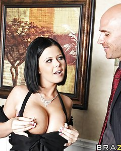 Loni and Johnny are both up for the same promotion, but Loni gives her boss head in order to secure the position. Later on, Loni makes a budgeting error on her first day as V.P. so she calls Johnny into her office and confesses her mistake. Johnny decides to take advantage of the situation by fucking her hard.