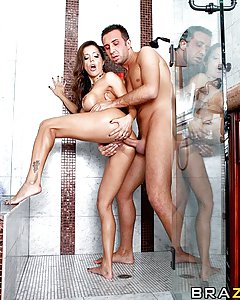 With her hot water on the fritz, Francesca heads next door in hopes of using the shower.  Finding only her neighbor's son Keiran home alone, she convinces him to let her in, and then more than happily returns the favour.  Showers have never been so dirty in this anal adventure that proves that when opportunity knocks, it's best to just fuck it in the ass!