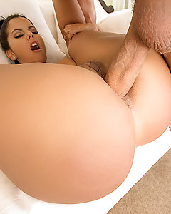 With Mick Blue running late for his scene with that big booty Latina Diamond Kitty, Diamond and the director decided to get the party started without him. First, she started stripping and teasing, showing off her juicy ass and newly pierced tits. She used her fingers and a dildo to get her pussy wet, so that by the time that Mick showed up, she was already good to go! Mick ate her ass out and then fucked her pussy until she came, pausing to let him taste her pussy juices as she gagged on his fat cock. Finally, Mick fucked her Latina ass, giving her a satisfying anal fuck session and then cumming all over her pretty face!