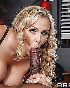 Doctor Julia is working her shift when a man acting like the reincarnation of Don Juan is brought in. Julia isn't convinced he's crazy, but she can clearly see his nuts as she gobbles down his cock and let's herself be seduced!
