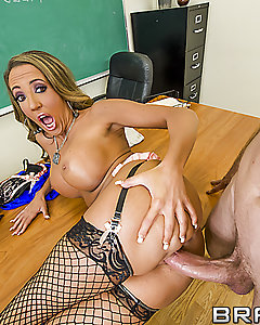 When the janitor finds Richelle's dirty secrets in her drawer, she's on a mission to make him forget what he just saw. To succeed she knows she can always count on her pair of perfect tits and her desire to get fucked hard.