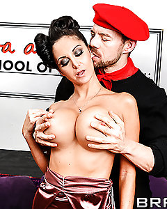 Ava Addams is more than just a pornstar. She used to be a world famous model, apparently, making it big with her stellar runway attitude. Now, however, she lives in Las Vegas and runs a school where would-be models are taught absolutely everything they need to know so they, too, can make it big!