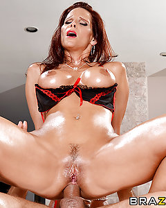 The luscious Syren DeMer is back and she's ready to wet her round beautiful ass for Ramon. Watch as, with the help of gallons of oil, Ramon plunges his hard cock into Syren's otherwise tight hole with ease. As big wet butts go, Syren's is the Bigwetbuttiest!