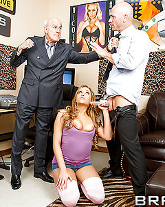 Mia Malkova had no idea her old man was a porn tycoon. When she went in one day to visit him at the office, Mr. Hogan told his staff to make sure she never found out. But Johnny couldn't ignore a chance to fuck the boss's daughter, because she's so fucking sweet and innocent. Seeing the raunchy HD porn on the editing screen turned Mia on so much, Johnny knew he had a chance to get that bubble butt. He bent her over and shoved his tongue in that sweet hole, then pounded her sweet pussy until she came over and over.
