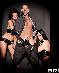 What the hell is Brazzers going to do without Johnny and Keiran? Those poor guys got mixed up in a hold-up at the nail salon and weren't lucky enough to leave with their lives. They wake up in a strange place, the Throne Room of a bizarre after-life, where the only sign of light follows three smokin' hot Milfs around the darkness. When Johnny fades away, Keiran's left all alone with the Red Queen and her sex-servants, to pound the fuck out of these cock-hungry sluts's pussies.