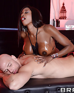 Johnny is looking for a certain kind of massage, and he has the money to pick the finest lady in the club. Miss Diamond Jackson is ready to give Johnny the rubdown he's been dreaming of, but Johnny's got some deep massage in store for her too...