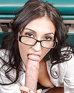 Johnny is so sick of sitting in the waiting room. He is nearly fed up when hot Doctor Cox clears her schedule to get ready for her date. Hearing that slutty doc rub one out after cancelling on him is the last straw, and he breaks into the examination room to give her a taste of his enormous cock.