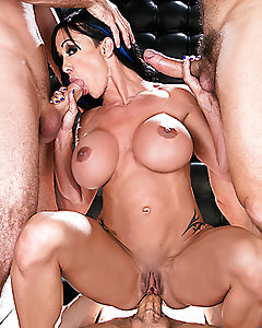 When horny bar manager Jewels Jade catches her barman stealing cash, she teaches him a lesson by fucking him against the bar to show him who's boss. But Keiran's cock has only fueled her fires, and when three guys come in after closing for a little fun, she decides to take them on with every hole she's got.