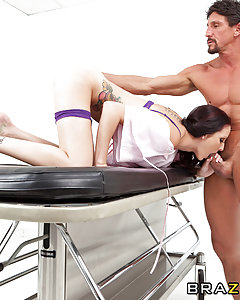 Hailey is a young and horny woman who, despite all attempts, is unable to achieve orgasm. With the help of a caring Doctor and his two dedicated assistants, Hailey takes part in an experiment to test the Doctor's latest treatment which may be the cure she has been needing, The Double Penetration!