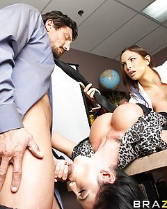 Danni and Emmanuelle are The B.O.O.B.S., the most efficient and ruthless corporate downsizers in the world. They weed out weak male employees using their biggest assets: their massive tits. Show any sign of weakness and you'll lose your job. Show just the right amount of confidence, however, and you'll not only keep your job, you might also get the fuck of a lifetime with two of the hottest sluts in the corporate world.
