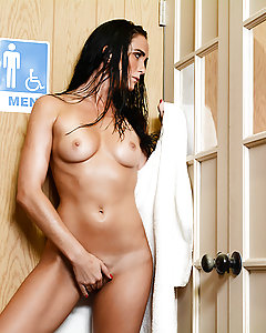 Bianca Breeze was at the sauna when she spotted Keiran Lee lounging around with his big cock hanging out. She took one look at that cock and knew she had to have it, so she walked straight in and dropped her towel. Keiran, a married man, was a little hesitant at first, but when she started rubbing his cock with her pretty little feet, he was good to go. She sucked and fucked that dick hard, riding it to a squirting orgasm. She spread her ass cheeks to take that dick deep in her tight asshole, and Keiran fucked her ass until he was ready to blow a huge load all over her face!