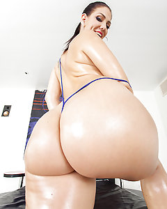 Madison Rose put on her skimpiest lingerie to show off her thick booty when she heard that Jordan Ash was coming over. Word on the street is he's got a nice fat cock, and for Madison Rose, the fastest way to her heart is through her asshole with a big dick! After oiling up that juicy ass of hers, Jordan starts playing with he tight little asshole to get it ready for a nice hard fucking. He fucks her pretty face and meaty booty until she's crying out with pleasure, and then blows a big load right in her mouth!