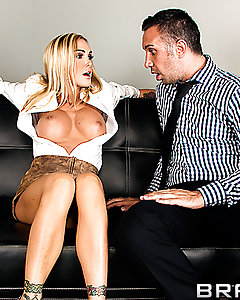 Keiran thinks he is in trouble at the office after he sees his co-worker Devon stripping the night before, but she is not only ok with it, it turns her on! It doesn't take much coaxing to get Keiran into a private office after everyone leaves so she can get busy on his cock.