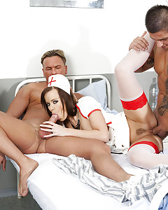 You get a lot of fuck to the buck with Cindy Dollar. She's a sex doll with big tits and an ample ass that beg to be fucked hard. From a four girl lesbian scene in a swimming pool to a bizarre scene with her covered in cling film where she shows a very fleshy vaginal gape, Cindy is a sex addict who loves to cum on camera. Before each scene, Cindy is interviewed dressed as a fetish nurse with her big boobs poking out. She talks about her private life and her life with Private and her love of big dick and lesbian pussy.