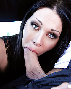 Xander Corvus and his fiancee are out to buy a new car, but Xander isn't too keen on the minivan that she has her eyes on. The sales woman RayVeness, on the other hand, looks pretty great! That MILF beauty was so hungry for cock that she gave him some road head while he was test driving the van, and then spread her legs for him in the back! She rode that cock until she was cumming so hard that her pussy was squirting, and then took a big facial cumshot to seal the deal! If only all shopping was this much fun!
