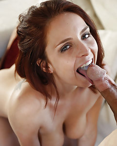 Redhead sex pot Ashley Graham is wet and ready for some thick dick to plow her hot pink lips wide. Ashley wrapped her hot mouth around our cock for some good sucking while we got hard as a rock. We slid all our inches deep inside Ash and fucked her pussy balls deep just to cover her juicy tits full of cum.