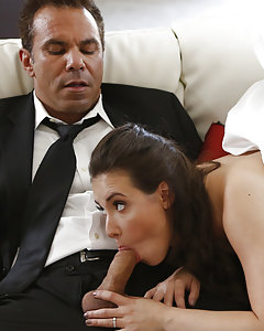 Hoping that he can teach her how to be a perfect lover before she walks down the aisle, Tracy (Casey Calvert) pleads with her future father-in-law (Steven St. Croix)to take her virginity.